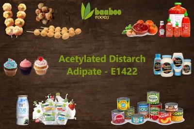 Tinh bột biến tính Acetylated Distarch Adipate E1422 ứng dụng trong sản xuất thực phẩm